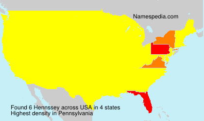 Surname Hennssey in USA