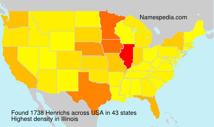 Surname Henrichs in USA