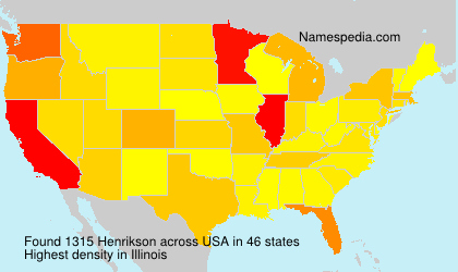 Surname Henrikson in USA