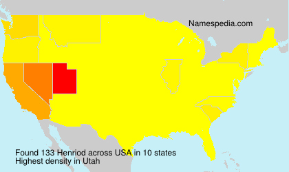 Surname Henriod in USA