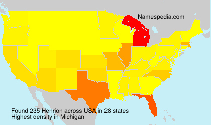 Surname Henrion in USA