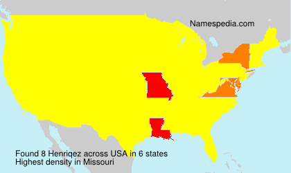 Surname Henriqez in USA