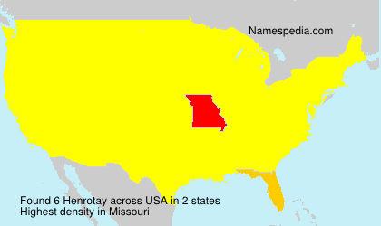 Surname Henrotay in USA