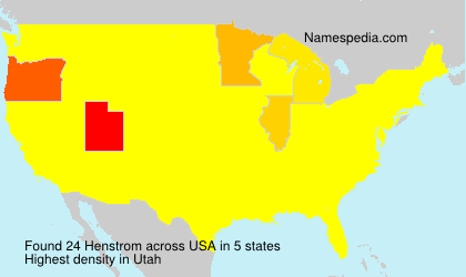 Surname Henstrom in USA