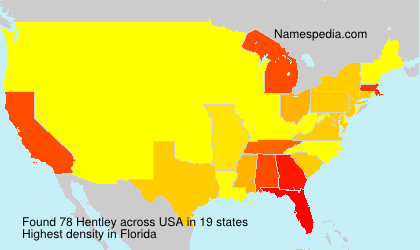 Surname Hentley in USA