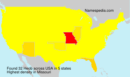 Surname Heob in USA