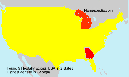 Surname Heotaky in USA