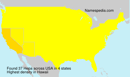 Surname Hepa in USA