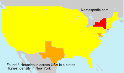 Surname Heracleous in USA