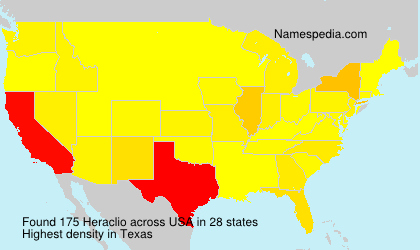 Surname Heraclio in USA