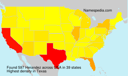 Surname Herandez in USA