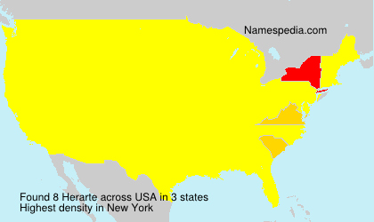 Surname Herarte in USA