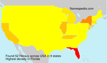 Surname Heraux in USA