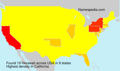 Surname Herawati in USA