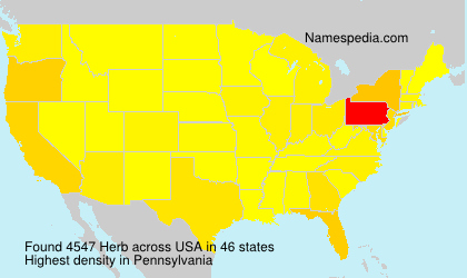 Surname Herb in USA