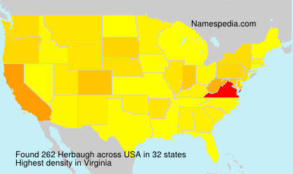 Surname Herbaugh in USA