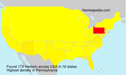 Surname Herbein in USA