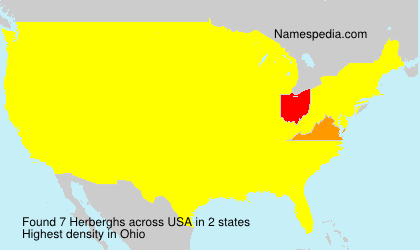 Surname Herberghs in USA