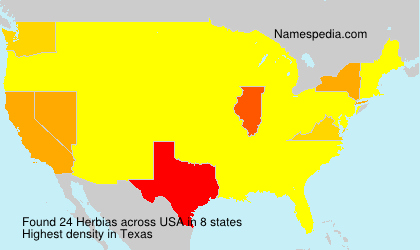 Surname Herbias in USA
