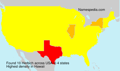 Surname Herbich in USA