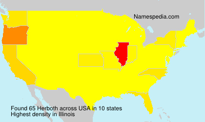 Surname Herboth in USA
