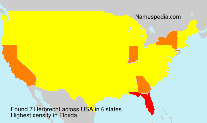 Surname Herbrecht in USA