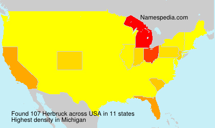 Surname Herbruck in USA