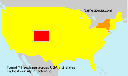 Surname Herchmer in USA
