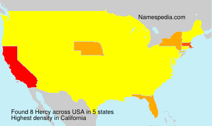 Surname Hercy in USA