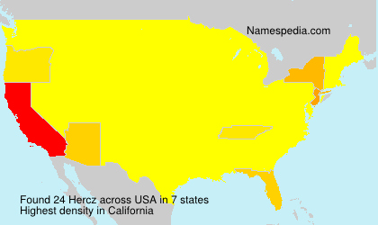 Surname Hercz in USA