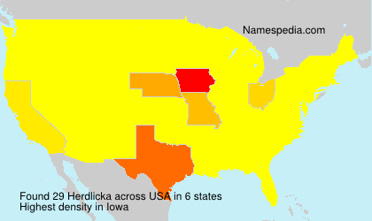 Surname Herdlicka in USA