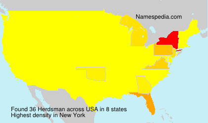 Surname Herdsman in USA