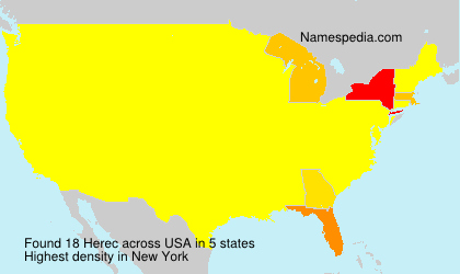 Surname Herec in USA