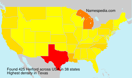 Surname Herford in USA