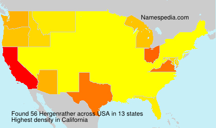 Surname Hergenrather in USA