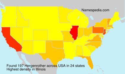 Surname Hergenrother in USA