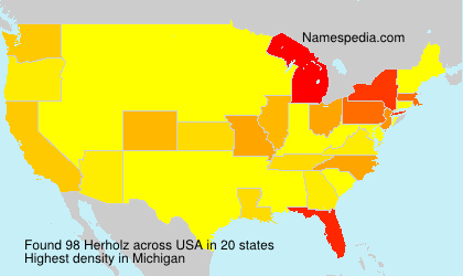 Surname Herholz in USA