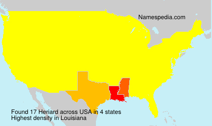 Surname Heriard in USA