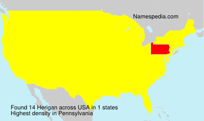 Surname Herigan in USA