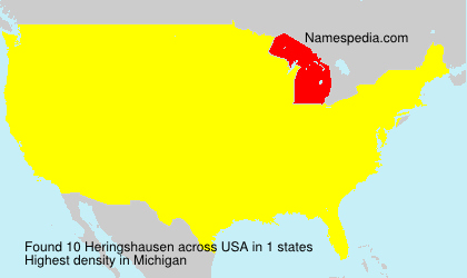 Surname Heringshausen in USA
