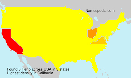 Surname Herip in USA
