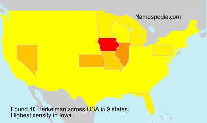 Surname Herkelman in USA