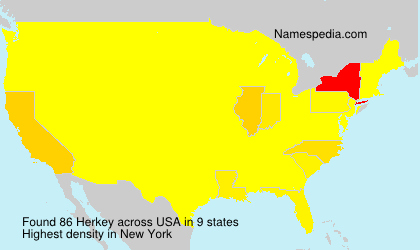 Surname Herkey in USA