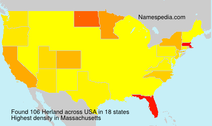 Surname Herland in USA