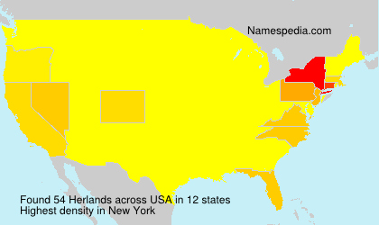Surname Herlands in USA