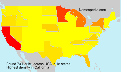 Surname Herlick in USA