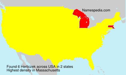 Surname Herliczek in USA