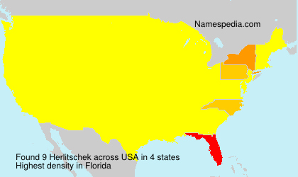 Surname Herlitschek in USA