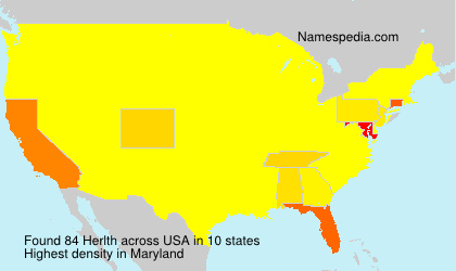 Surname Herlth in USA