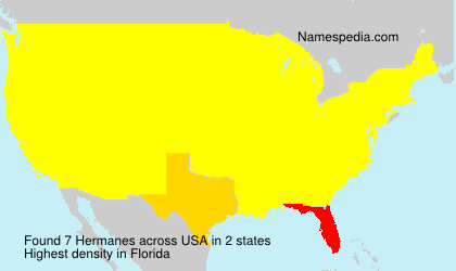 Surname Hermanes in USA